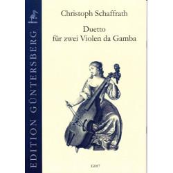Duetto fur zwei Violen da Gamba. Ch. Schaffrath