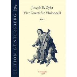 Vier Duetti fur Violoncelli 2. J.B.Zyka