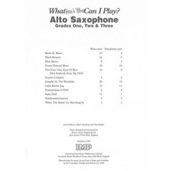 What Jazz 'N'Blues Can I Play? Alto Saxophone 1-3