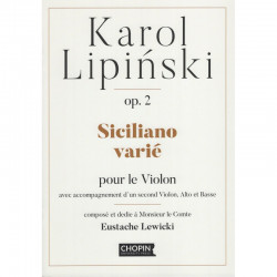 Siciliano varie.  Karol Lipiński