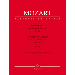 Mozart, WA: Concerto for Piano No.21 in C (K.467) (Urtext