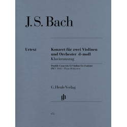 Bach, J S: Concerto for 2 Violins and Orchestra d minor BWV 1043