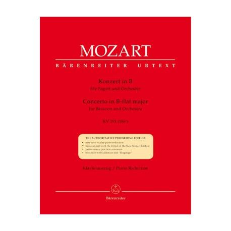 Konzert in B fur Fagott und Orchester. W.A.Mozart
