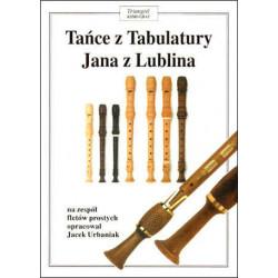 Tańce z Tabulatury Jana z Lublina  na zespól fletów prostych opracował Jacek Urbaniak