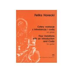 F. Horecki  Cztery wariacje z Introdukcją i Codą na gitarę