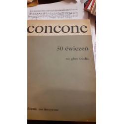 Giuseppe Concone  50 ćwiczeń na głos średni z fortepianem op. 9