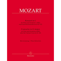 Mozart, WA: Concerto for Flute in G based on the Clarinet Concerto (K.622)
