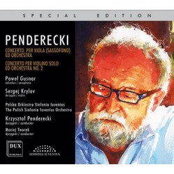 Krzysztof Penderecki Concerto Per Viola (sassofono) ed Orchestra, Concerto Per Violino Solo ed Orchestra No. 2 Metamorphosen