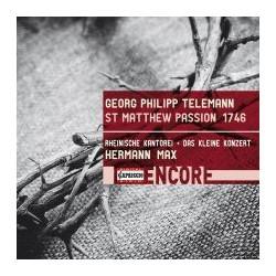 Telemann: St Matthew Passion, TWV 5:31