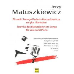 Jerzy Duduś Matuszkiewicz  Piosenki Jerzego Dudusia Matuszkiewicza na głos i fortepian