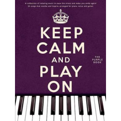 Keep Calm And Play On Purple Book