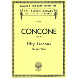 Fifty lessons for low voice op. 9 Giuseppe Concone