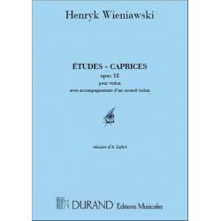 Henryk Wieniawski: Etudes Caprices Op 18 2 Violons