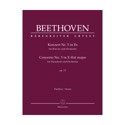 Beethoven, Ludwig van Concerto for Pianoforte and Orchestra no. 5 in E-flat major op. 73