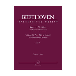 Beethoven, Ludwig van Concerto for Pianoforte and Orchestra no. 3 in C minor op. 37