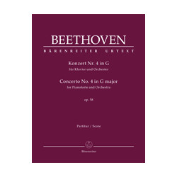 Beethoven, Ludwig van Concerto for Pianoforte and Orchestra no. 4 in G major op. 58
