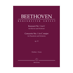 Beethoven, Ludwig van Concerto for Pianoforte and Orchestra no. 1 in C major op. 15