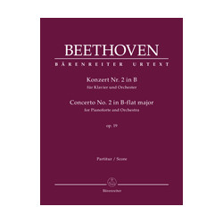 Beethoven, Ludwig van Concerto for Pianoforte and Orchestra no. 2 in B-flat major op. 19