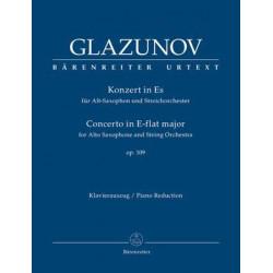 Glazunov, A: Concerto for Alto Saxophone and String Orchestra, Op.109 (Urtext)