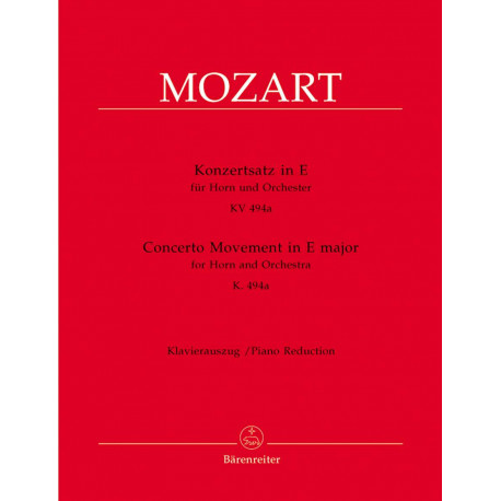 Mozart, WA: Concerto Movement for Horn in E (K.494a)