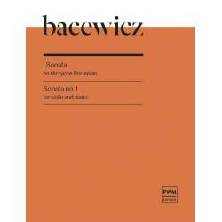 I sonata na skrzypce i fortepian Grażyna Bacewicz