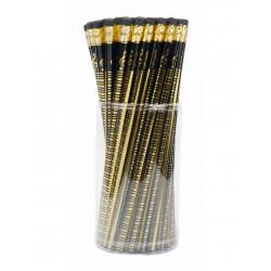 Ołówek czarny złota klawiatura