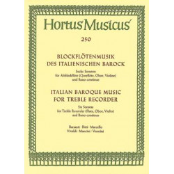 Various Composers: Italian Baroque Music for Treble Recorder