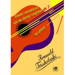 Truskolaski Romuald, Quatre variations sur un theme original op. 7