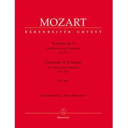 Mozart, WA: Concerto for Piano No.20 in D minor (K.466) (Urtext)
