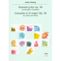 Oskar Rieding  Koncert G-dur na skrzypce i fortepian op. 34