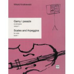 Gamy i pasaże na skrzypce zeszyt 1 Witold Krotkiewski