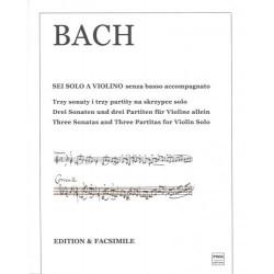 Trzy sonaty i trzy partity na skrzypce solo Jan  Sebastian Bach