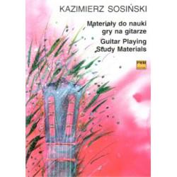Materiały do nauki gry na gitarze Kaziemierz Sosiński