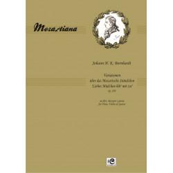 """Bornhardt Johann H. K. (1774-1843) Variationen uber das Mozartsche Standchen """"Lieber Madchen hor' mir zu"""" op. 130"""