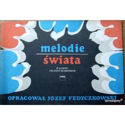 Melodie świata w łatwym układzie na akordeon Józef fedyczkowski